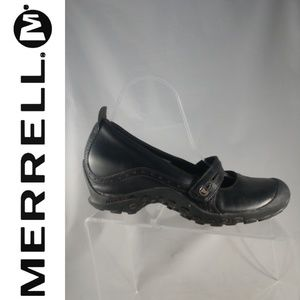 Merrell Eden Mary Janes 9 Black Leather Walking